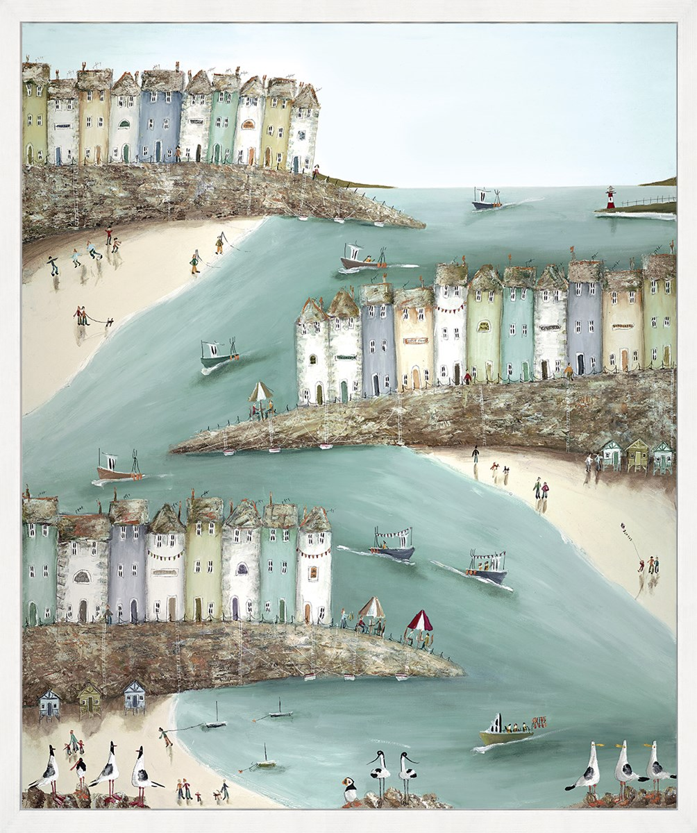Shore Thing by Rebecca Lardner - Limited Edition Box Canvas sized 30x36 inches. Available from Whitewall Galleries